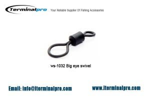 big eye rolling swivel,matt black, uk size 8 and size 11 available