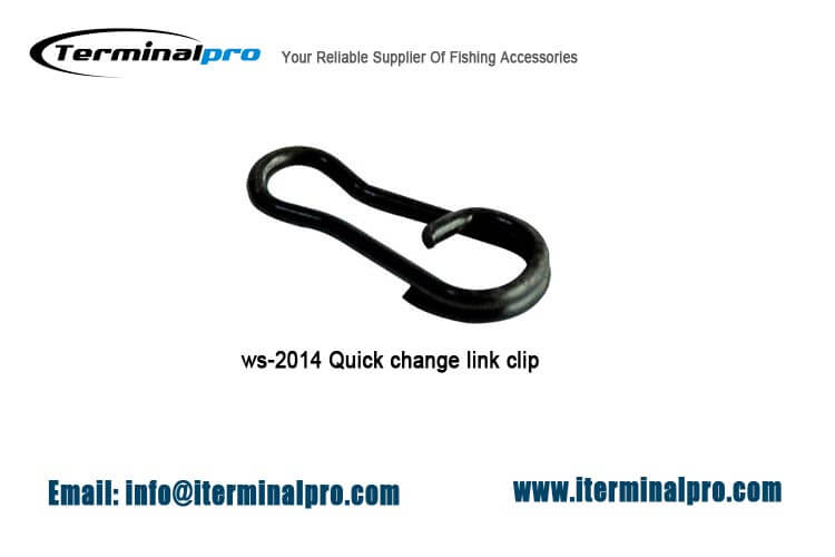 Matt black quick change link clip-carp fishing-terminal tackle
