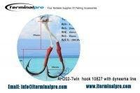 Jigging assist hook-AH202-Twin-hook-10827-with-dyneema-line