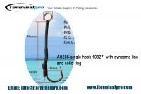 Assist hook AH205-single-hook-10827-with-dyneema-line-and-solid-ring
