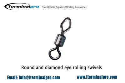 Round-and-diamond-eye-rolling-swivels-fishing-connection-accessories-terminal-tackles