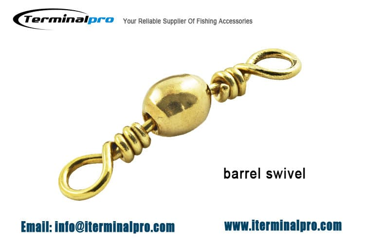 polished-brass-barrel-swivels-fishing-connection-accessories-terminal-tackle