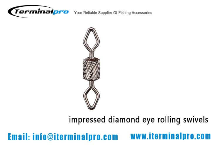diamond eye knurling rolling swivel