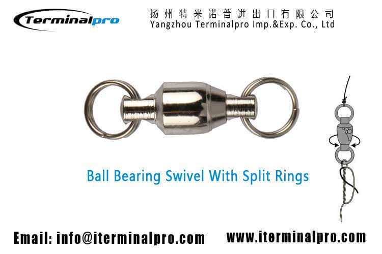 ball bearing swivel with two split rings-terminal tackle-fishing accessories-fishing connector