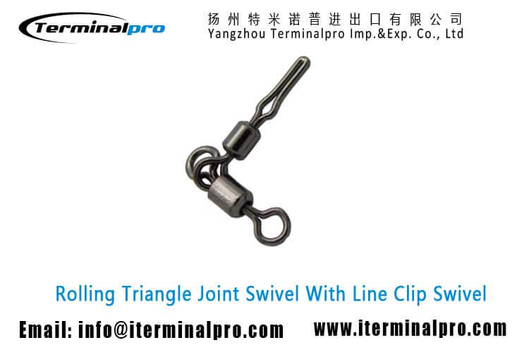 rolling-triangle-joint-swivel-with-line-clip-swivel