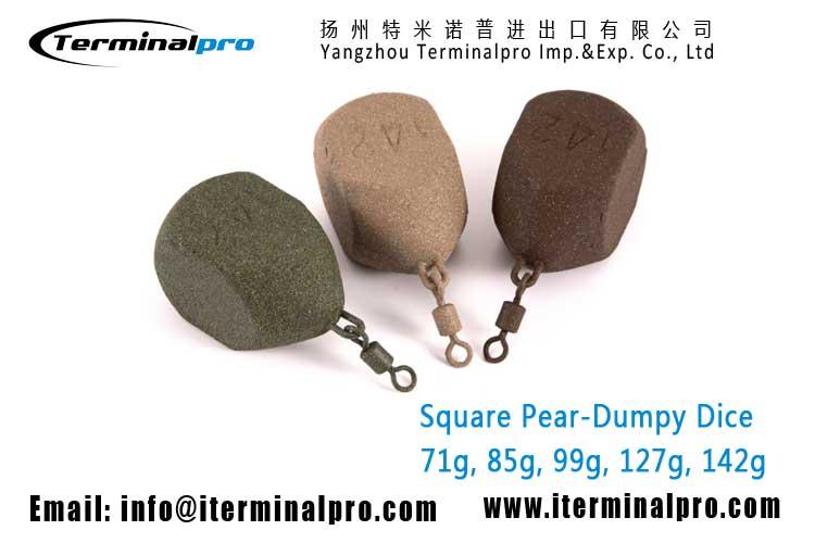 carp-fishing-sinker-Square-Pear-Dumpy-Dice-lead-sinker-terminal-tackle-TERMINALPRO