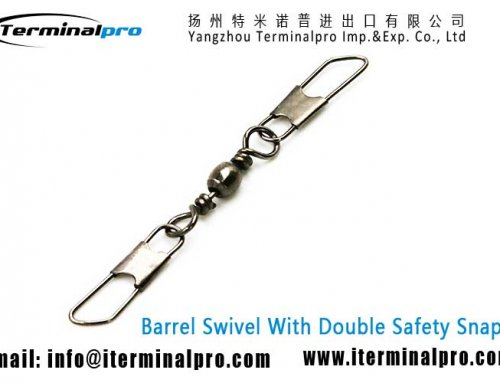 Barrel Swivel With Double Safety Snaps
