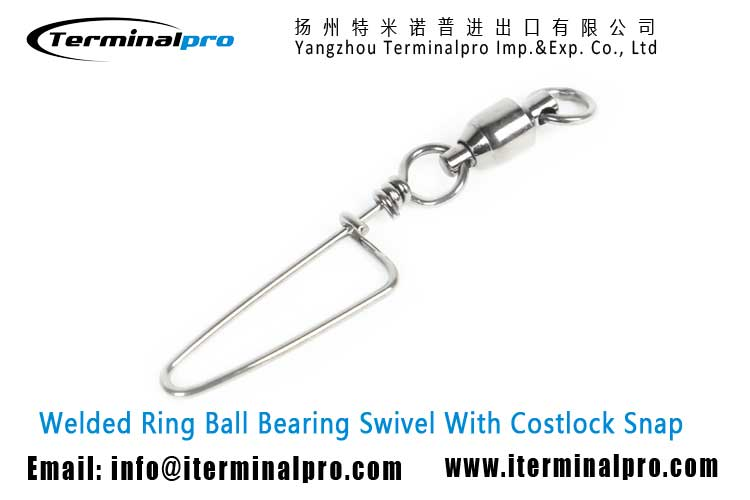 welded-ring-ball-bearing-swivel-with-costlock-snap-fishing-swivel-snap-fishing-accessory-terminal-tackle-TERMINALPRO