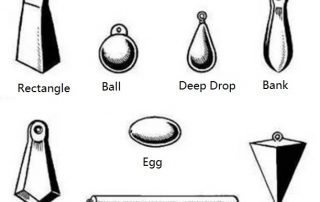 fishing weight of different kinds