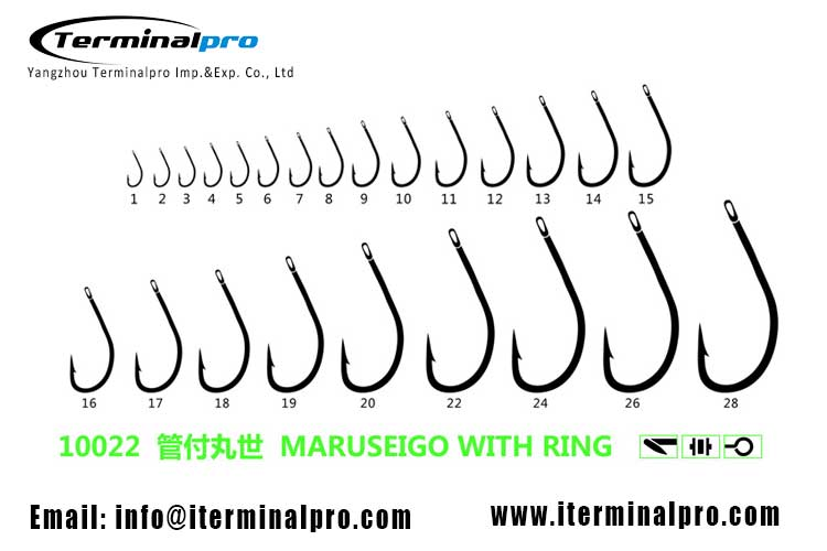 10022-MARUSEIGO-WITH-RIGH-high-carbon-steel-freshwater-fishing-hook