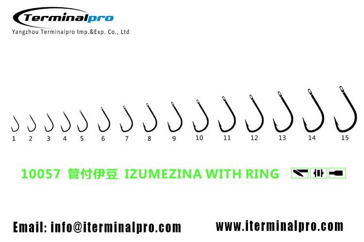 10057-IZUMEZINA-WITH-RING-HIGH-CARBON-STEEL-FRESHWATER-FISHING-HOOK
