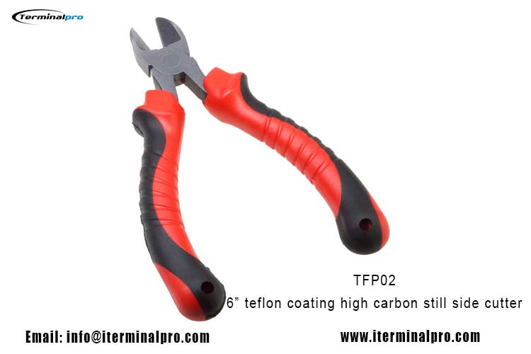 6-inch-teflon-coating-drop-forged-High-Carbon-Side-Cutter-Fishing-pliers-1