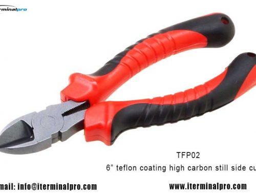 TFP02-6 inch teflon coating high carbon steel diagonal cutting pliers