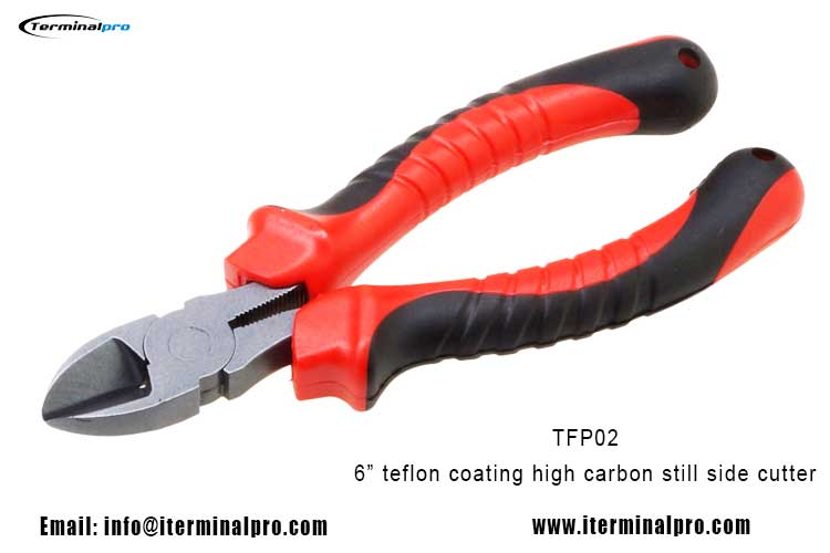 6-inch-teflon-coating-drop-forged-High-Carbon-Side-Cutter-Fishing-pliers-fishing-tools