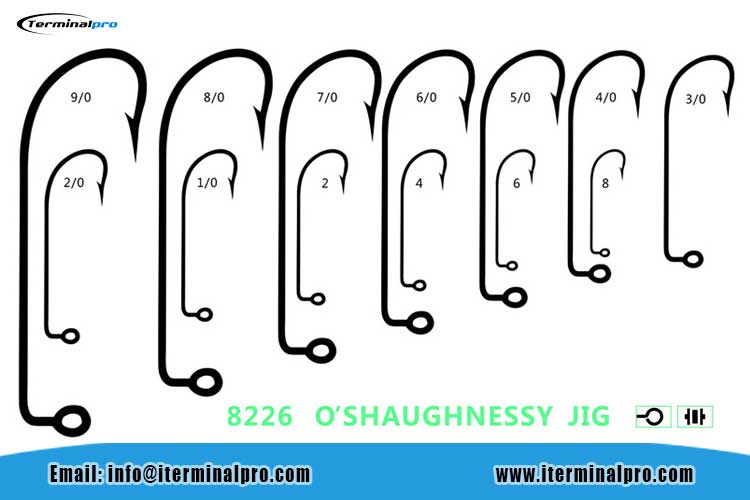 8226-O'SHAUGHNESSY-JIG-HOOK-FOR-BASS-FISHING-RIG-AND-JIG-HEADS-FISHING-HOOK-TERMINAL-TACKLE-FISHING-ACCESSORIES