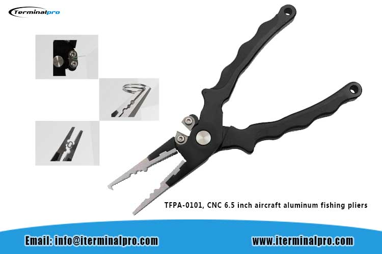 TFPA-0101--CNC-6.5-inch-aircraft-aluminum-fishing-pliers