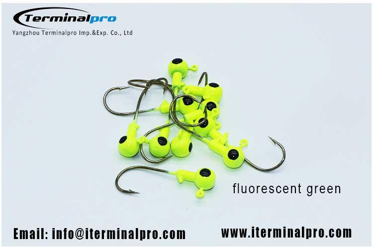 bass-fishing-fluorescent-green-color-ball-jig-head